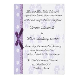 Lavender Elegant Wedding Invitation