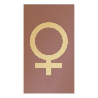 Lavender Herb Female Symbol Pack Of Standard Business Cards