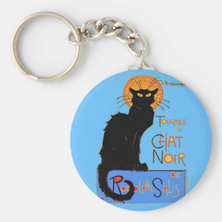 Le Chat Noir Basic Round Button Key Ring