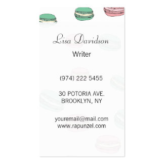 Le Macaron Pack Of Standard Business Cards
