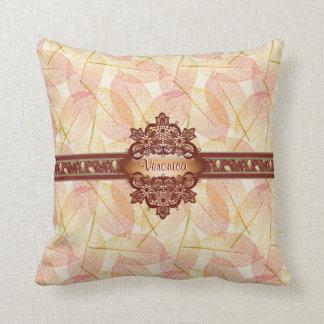 Leafy fall gothic American MoJo Pillow Cushion