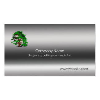 Leafy Tree Metallic template Pack Of Standard Business Cards