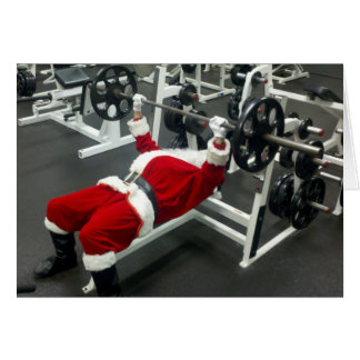 lean & mean Santa - funny silly christmas holiday Greeting Card