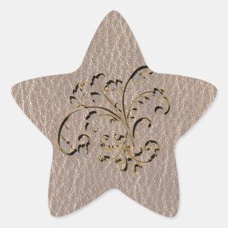 Leather-Look Bouquet 2 Soft Star Sticker