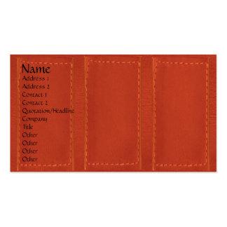Leather Patchwork Look :   Designer COWBOYS Pack Of Standard Business Cards