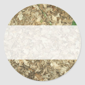 Leaves. Woodland floor. Leafy ground. Round Sticker