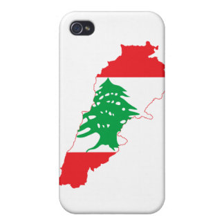 Lebanon Flag Map iPhone 4 Cover