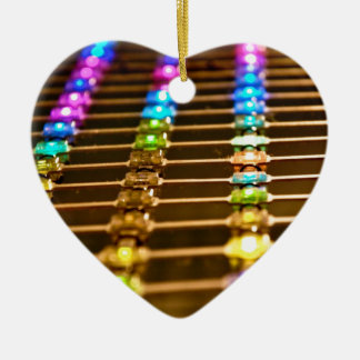LED Abstraction Ceramic Heart Decoration