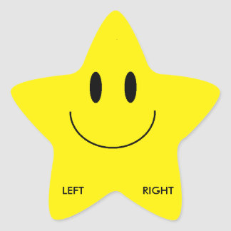 Left/Right Shoe Stickers (Star)