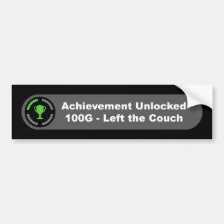 Left the Couch - Achievement Unlocked Bumper Sticker