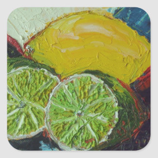 Lemon Lime Round Sticker
