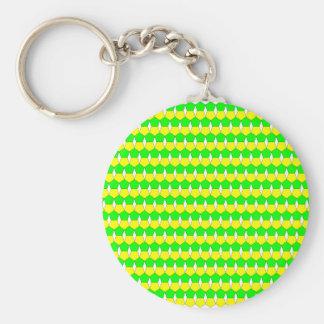 Lemon/Lyme Basic Round Button Key Ring