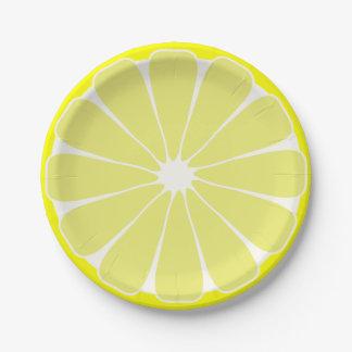 Lemon Paper Plates 7 Inch Paper Plate
