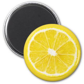 lemon slice 6 cm round magnet