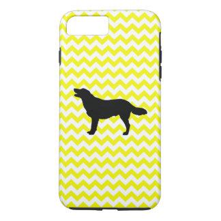 Lemon Yellow Chevron With Golden Retriever iPhone 7 Plus Case