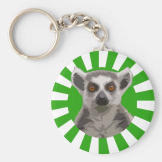 Lemur Basic Round Button Key Ring