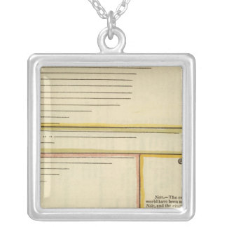 Lengths of rivers square pendant necklace