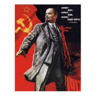 Lenin - Russian Communist Postcard