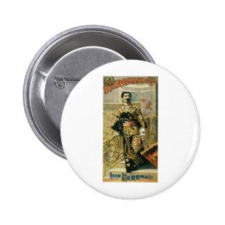 Leon Herrmann  Magician ~ Vintage Magic Act 6 Cm Round Badge