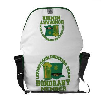 Leprechaun Drinking Team messenger bag