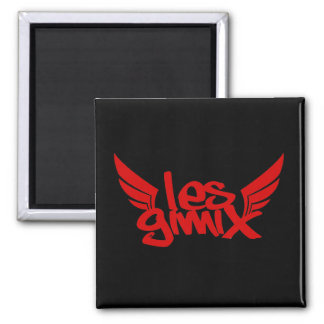Les Gimix Square Magnet