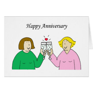 Lesbian Happy Anniversary. Greeting Card
