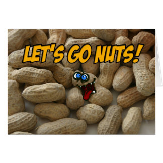 let's go nuts greeting card