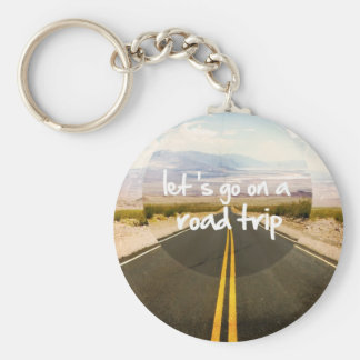 Let's go on a road trip basic round button key ring