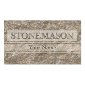 Letters in carved stone pack of standard business cards