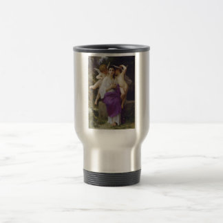 Leveil Heart by William-Adolphe Bouguereau Stainless Steel Travel Mug