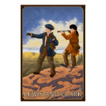 Lewis and Clark Exploring the West Poster
