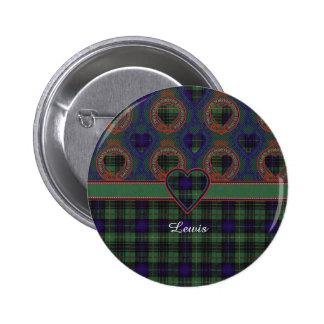 Lewis clan Plaid Scottish kilt tartan 6 Cm Round Badge