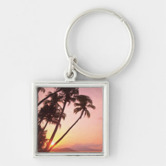 Lewolin Village, Illi Api Island, Selat Boleng Silver-Colored Square Key Ring