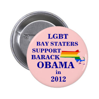 LGBT Bay Staters for Obama 2012 6 Cm Round Badge
