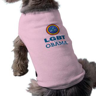 LGBT for OBAMA Sleeveless Dog Shirt