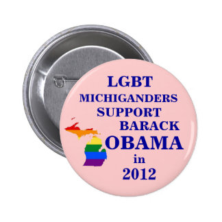 LGBT Michiganders for Obama 2012 6 Cm Round Badge