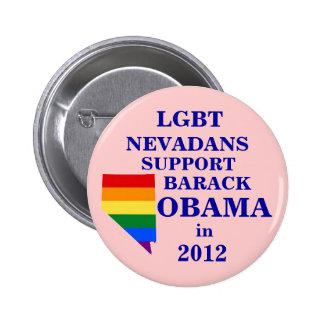 LGBT Nevadans for Obama 2012 6 Cm Round Badge