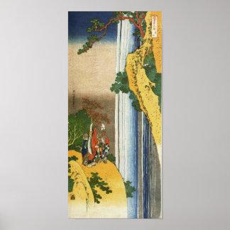Li Po at Waterfall Lo-Shan Hokusai Fine Art Poster
