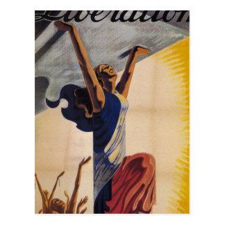 Liberation! (1944)_Propaganda poster Postcard
