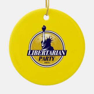 Libertarian Party Round Ceramic Decoration