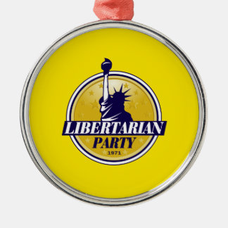 Libertarian Party Silver-Colored Round Decoration