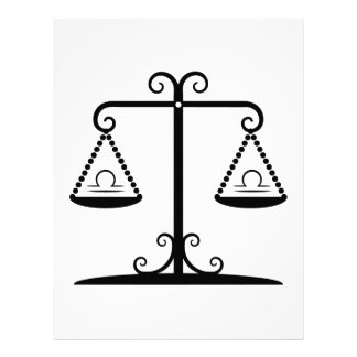 libra balance scales zodiac astrology horoscope 21.5 cm x 28 cm flyer