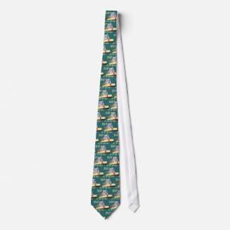 Library - Samoyed - Cool Dogs Read Literacy Tie