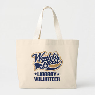 Library Volunteer Gift Jumbo Tote Bag