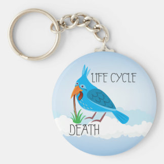 Life Cycle Basic Round Button Key Ring
