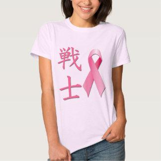 Life - Fighter Kanji - Breast Cancer Ribbon Tshirts