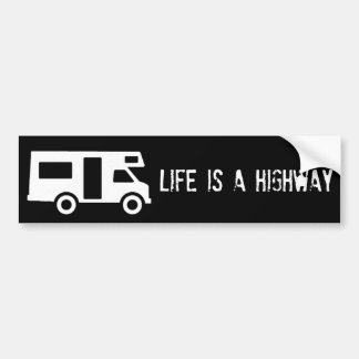 Life is a Highway Bumper Sticker