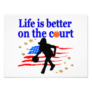 LIFE IS BETTER ON THE COURT USA DESIGN PHOTO ART