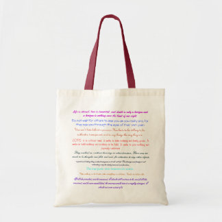 Life is eternal, love is immortal, and death i... budget tote bag