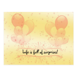 Life is Full of Surprises Postcard
